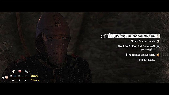 Talk to any of the companions - How to betray your friends in the quest Gallows Brothers - Judas trophy guide? | Achievements & trophies - Achievements and trophies - Kingdom Come Deliverance Game Guide