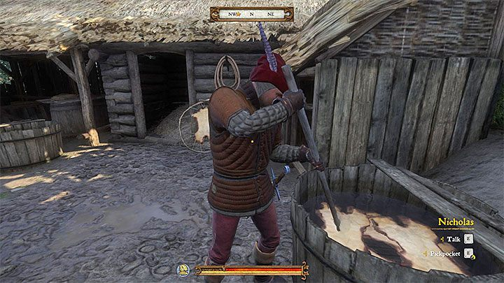 The master hunter Nicholas has a hut on a hill in Talmberg - Talmberg | Side quests in Kingdom Come Deliverance - Side quests - Kingdom Come Deliverance Game Guide