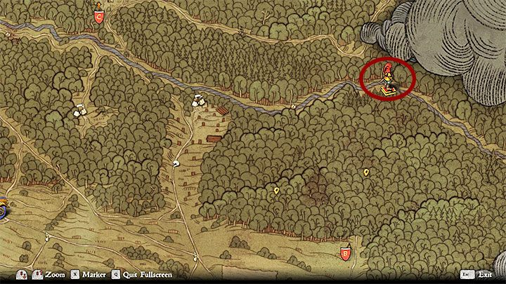 You can locate the Wolflins camp by asking for the help of a peasant from a northern farm, following blood traces from the southern farm or searching the area yourself - Rattay | Side quests in Kingdom Come Deliverance - Side quests - Kingdom Come Deliverance Game Guide