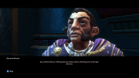 Inside Sandstone Villa M6(1) talk to Decanus Bruten, who will give you a bunch of letters - Adessa - p. 1 | Side missions - Side missions - Kingdoms of Amalur: Reckoning Game Guide & Walkthrough
