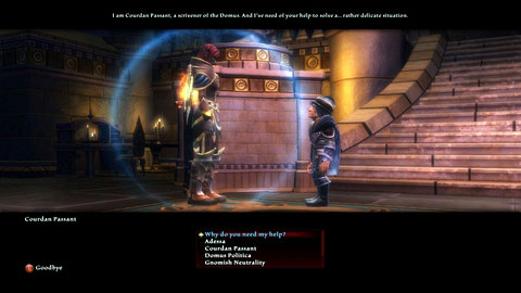The gnome will ask you to retrieve a letter which was sent by mistake - Adessa - p. 1 | Side missions - Side missions - Kingdoms of Amalur: Reckoning Game Guide & Walkthrough