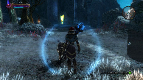 When you get to Ariad Camp M13(1) talk to Desiderus Trav, who will ask you to help him in defeating army of Gadflow - Shadow Pass - Side missions - Kingdoms of Amalur: Reckoning - Game Guide and Walkthrough