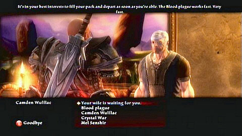 Tell him of his worried wife and three dialogue options will appear - Odarath I - p. 2 - Side missions - Kingdoms of Amalur: Reckoning - Game Guide and Walkthrough
