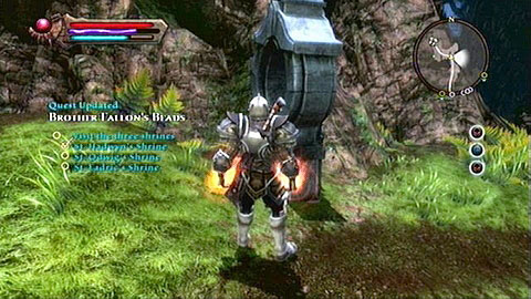 In order to strengthen the Bead, you need to pray by three shrines found beside Mitharu missions - Glendara | Side missions - Side missions - Kingdoms of Amalur: Reckoning Game Guide & Walkthrough