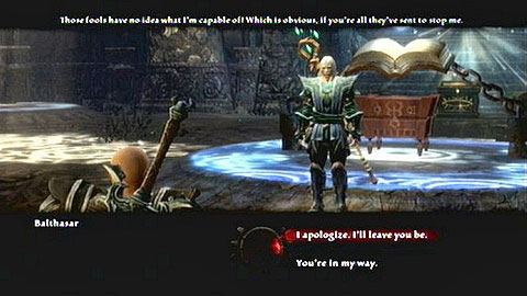 The conversation will let you make choices at two points - Glendara | Side missions - Side missions - Kingdoms of Amalur: Reckoning Game Guide & Walkthrough