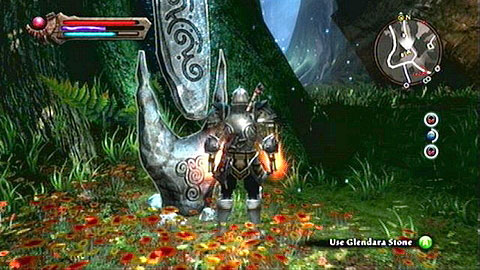 The stone can be found behind a big tree, nearby the path leading to Odarath - Glendara | Dalentarth Lorestones - Lorestones - Kingdoms of Amalur: Reckoning Game Guide & Walkthrough