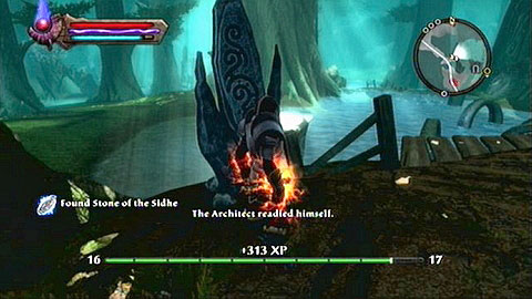 West of the ruins of Aodh - The Sidhe - Lorestones - Kingdoms of Amalur: Reckoning - Game Guide and Walkthrough