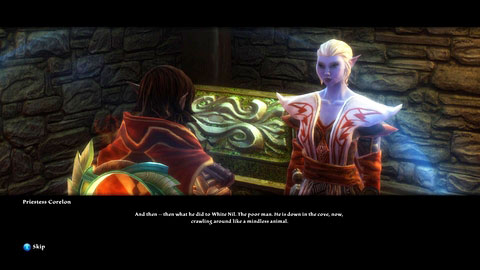 You can also return to Priestess Corelon and intimidate her with persuasion to receive some gold - Galafor/Acatha - p.2 | Side missions - Side missions - Kingdoms of Amalur: Reckoning Game Guide & Walkthrough