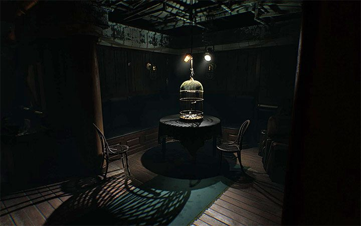 This puzzle takes place when you reach a poorly lit room with a cage for birds - as shown in the image - The padlock riddle | Layers of Fear 2 Riddle Solutions - Act 1 - The Unmooring - Layers of Fear 2 Guide