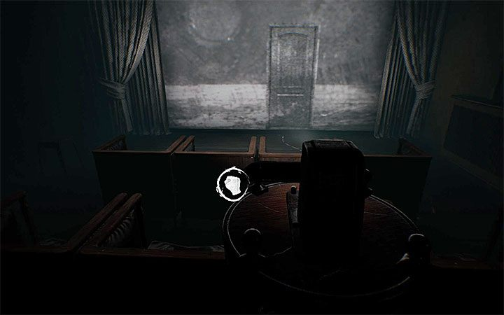Go to the projector and interact with it - The first projector riddle | Layers of Fear 2 Riddle Solutions - Act 1 - The Unmooring - Layers of Fear 2 Guide