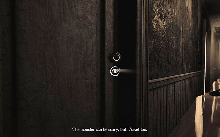 After checking the bathroom, touch the interactive screen and you will be taken to the corridor - Bathroom | Layers of Fear 2 walkthrough - Act 3 - Bloody Roots - Layers of Fear 2 Guide