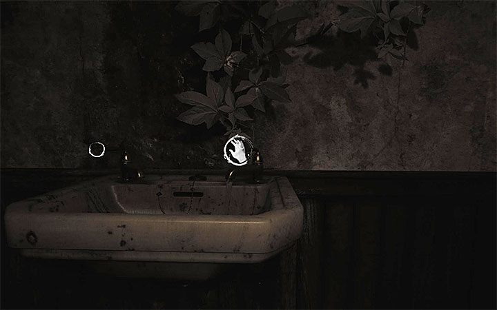 Again, go to the sink, but this time turn the right tap - Bathroom | Layers of Fear 2 walkthrough - Act 3 - Bloody Roots - Layers of Fear 2 Guide