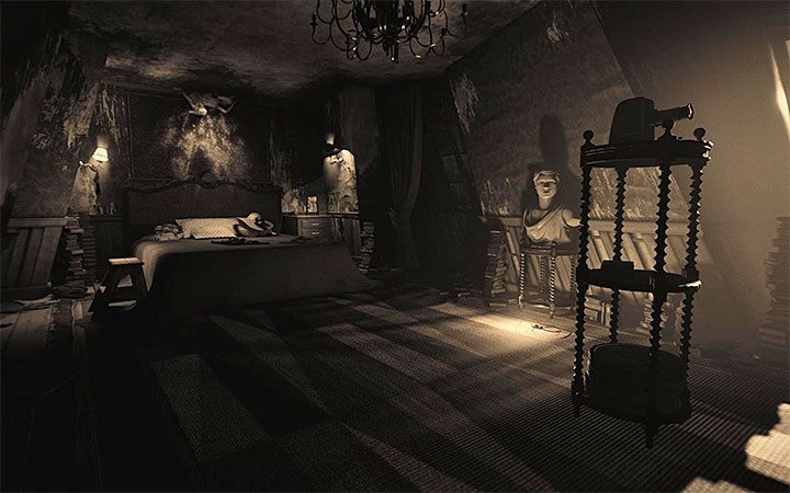 The bedroom is the second room after kitchen visited in the third act of the game - The bedroom riddle | Layers of Fear 2 Riddle Solutions - Act 3 - Bloody Roots - Layers of Fear 2 Guide