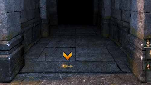 The concentration of Lizards will be highest in this area, so one of them will probably drop the Gold Key needed for the Treasury - Level 9: Goromorg Temple I - Walkthrough - Legend of Grimrock - Game Guide and Walkthrough