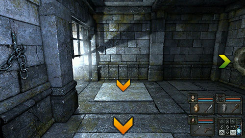 You will find two pressure plates here - Level 7: Ancient Chambers - Walkthrough - Legend of Grimrock - Game Guide and Walkthrough