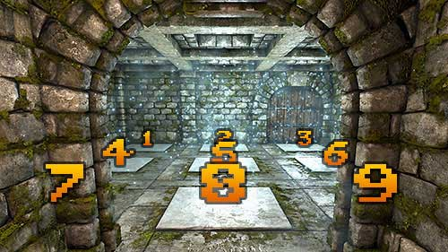 To make things easier, I numbered the plates like a phone keyboard - Level 4: Archives - Walkthrough - Legend of Grimrock - Game Guide and Walkthrough