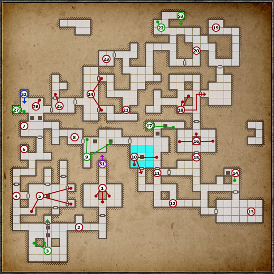 Just like the previous level, the difficulty goes up here as well - Level 3: Pillars of Light - Walkthrough - Legend of Grimrock - Game Guide and Walkthrough