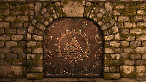 The Iron Door and at the same time a secret and a collectible, as they count to the end statistics - Level 1: Into The Dark - Walkthrough - Legend of Grimrock - Game Guide and Walkthrough