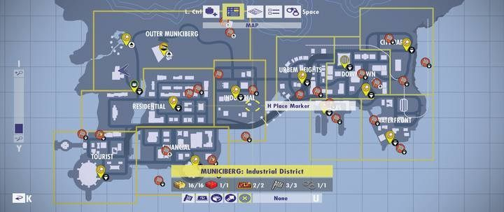 General information about maps of challenges and golden bricks ... on