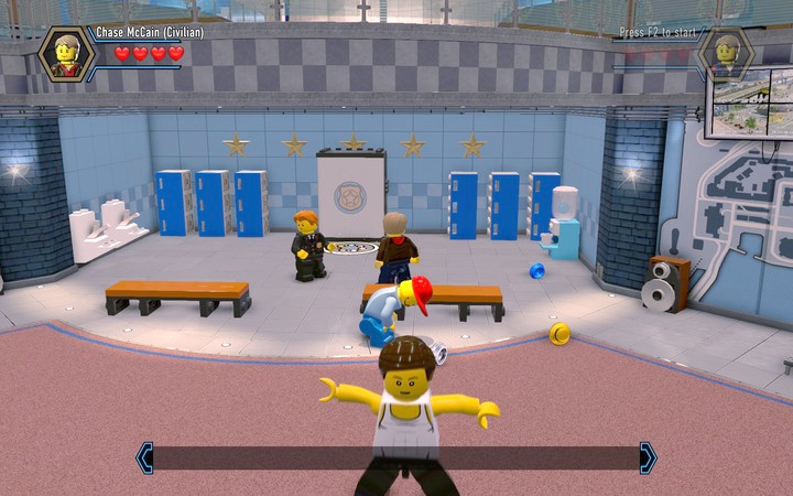 Rebuild the blocks into a wardrobe, where you will acquire a costume - Exploring the station | Chapter 1 - Chapter 1 - LEGO City: Undercover Game Guide