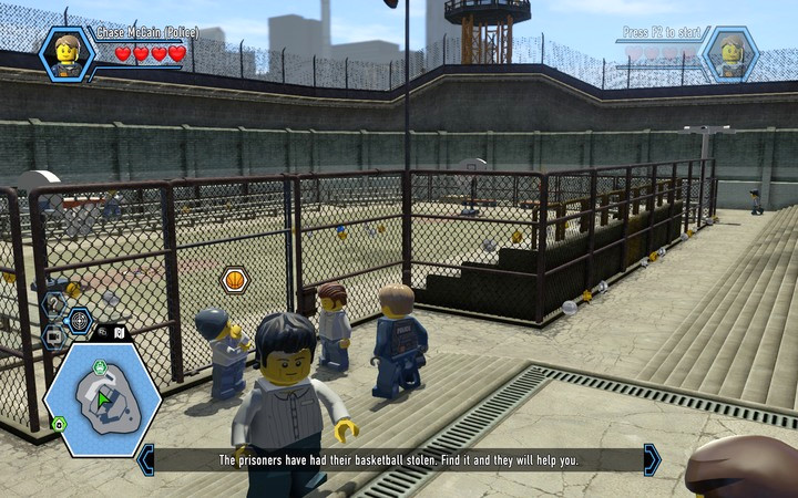 Recover the ball, and you will be allowed to enter the pitch - The prison island | Chapter 3 - Chapter 3 - LEGO City: Undercover Game Guide