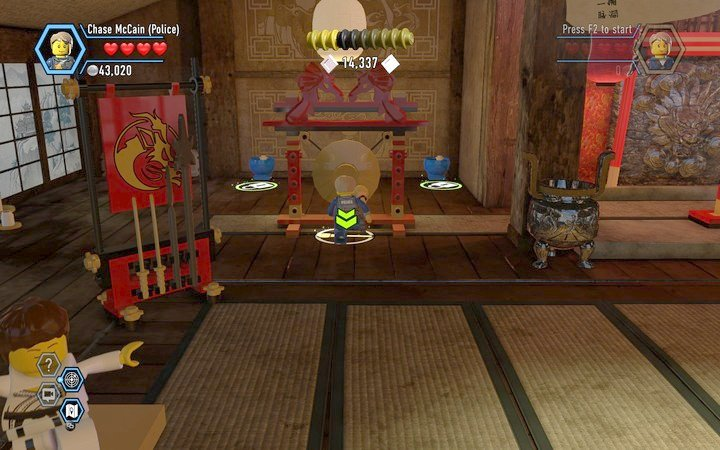 Use the gong to get to the next stage - The Dojo | Chapter 4 - Chapter 4 - LEGO City: Undercover Game Guide