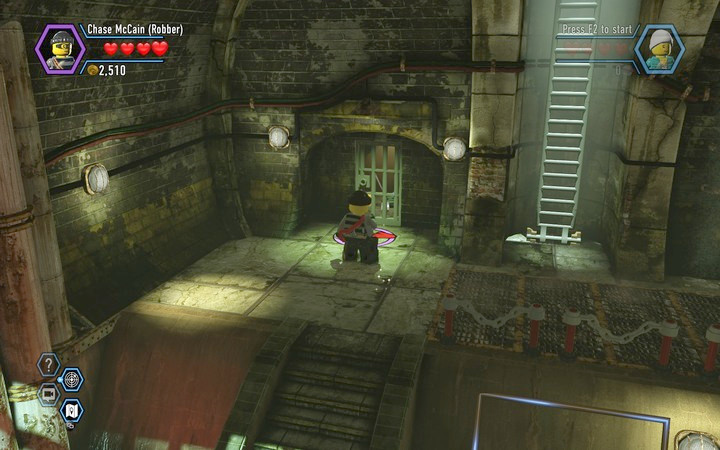 Use the crowbar to open up the passage - Robbing the gem from the bank | Chapter 6 - Chapter 6 - LEGO City: Undercover Game Guide