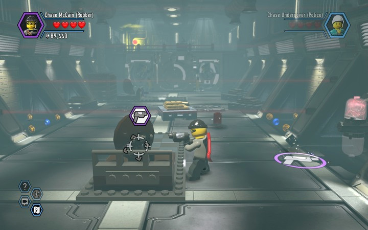 The silver paint allows the deflection of laser beams - Robbing the gem from the bank | Chapter 6 - Chapter 6 - LEGO City: Undercover Game Guide