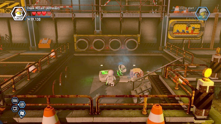 Once you drain the water from the tank, you will be able to use the crate there - Construction site | Chapter 12 | Walkthrough - Chapter 12 - LEGO City: Undercover Game Guide