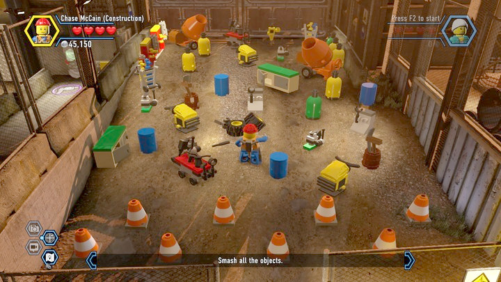 Eliminate ALL of the elements to receive a bonus - Construction site | Chapter 12 | Walkthrough - Chapter 12 - LEGO City: Undercover Game Guide