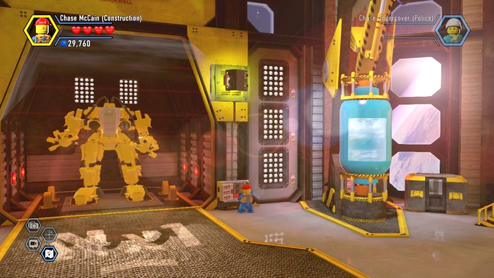 You have to activate the robot and take the helm - Moon Landing | Chapter 14 and 15 | Walkthrough - Chapter 14 and 15 - LEGO City: Undercover Game Guide