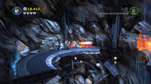 Move to the next floor using wall on the left - Unwelcome Guests | Walkthrough - Walkthrough - LEGO Batman 2: DC Super Heroes Game Guide & Walkthrough