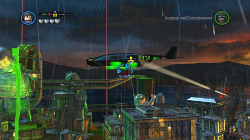 To start this mission you have to fly to the Jokers plane (picture) - Destination Metropolis | Walkthrough - Walkthrough - LEGO Batman 2: DC Super Heroes Game Guide & Walkthrough