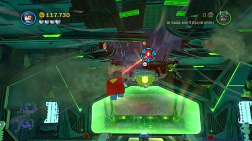In the next location you will have get on the higher level of the plane - Destination Metropolis | Walkthrough - Walkthrough - LEGO Batman 2: DC Super Heroes Game Guide & Walkthrough
