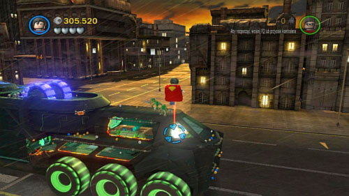 #08 - When you reach the front of the vehicle fly Superman into the air and destroy golden plate - Chemical Signature | Minikits - Minikits - LEGO Batman 2: DC Super Heroes Game Guide & Walkthrough