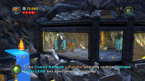 #09 - On the central rock go to the room on the left side (use Lex to destroy black doors) and destroy blue rock - Unwelcome Guests | Minikits - Minikits - LEGO Batman 2: DC Super Heroes Game Guide & Walkthrough