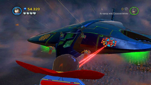 #01 - When you fly to the front of the plane destroy two golden plates - Destination Metropolis | Minikits - Minikits - LEGO Batman 2: DC Super Heroes Game Guide & Walkthrough