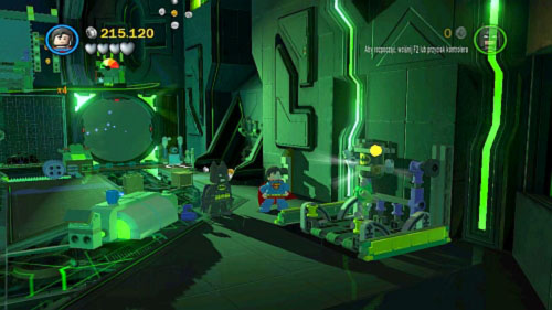#02 - In the first room after board on the plane, destroy bricks on the right side, build a lever and pull it - Destination Metropolis | Minikits - Minikits - LEGO Batman 2: DC Super Heroes Game Guide & Walkthrough