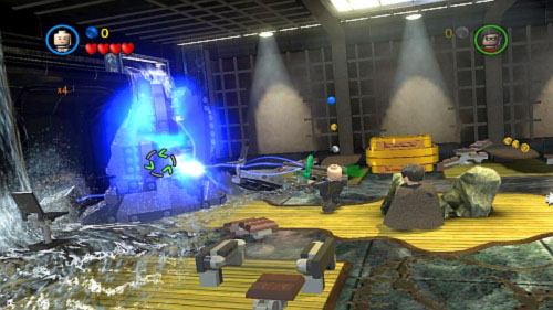 #02 - In the same place destroy black bricks on the left and set them with Flash - Tower Defiance - Minikits - LEGO Batman 2: DC Super Heroes - Game Guide and Walkthrough