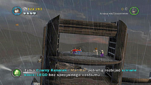 Tower Defiance - during the fight with robot on the roof, fly on metal shelf on the left side and eliminate two enemies - Citizen in peril - Minikits - LEGO Batman 2: DC Super Heroes - Game Guide and Walkthrough