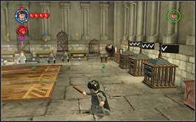Use the Transfiguration spell on the dummies #1 - you have to change three dummies on each path #2 - Bonuses - Hogwarts - Walkthrough - LEGO Harry Potter: Years 1-4 - Game Guide and Walkthrough