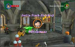 Justin Finch-Fletchley: Once you create the Polyjuice Potion, you will receive the Token as a reward (during the main story line) - Bonuses - Hogwarts - Walkthrough - LEGO Harry Potter: Years 1-4 - Game Guide and Walkthrough