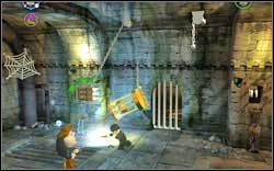 In the second room, firstly chase away the Devil's Snare from the right and then from the left hand to get the brick - Bonuses - Hogwarts - Walkthrough - LEGO Harry Potter: Years 1-4 - Game Guide and Walkthrough