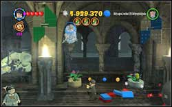 On the right side of the room, in the corner, you will find a student trapped in a spider-web - destroy it - Bonuses - Hogwarts - Walkthrough - LEGO Harry Potter: Years 1-4 - Game Guide and Walkthrough