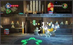 Girl: Use magic on four candles (two by the entrance, two in the upper part of the room) - Bonuses - Hogwarts - Walkthrough - LEGO Harry Potter: Years 1-4 - Game Guide and Walkthrough
