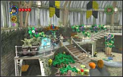 Professor Sprout: Put earmuffs on and grab the Mandrake - break five glass windows - Bonuses - Hogwarts - Walkthrough - LEGO Harry Potter: Years 1-4 - Game Guide and Walkthrough