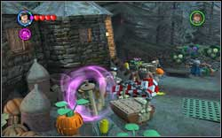 Ron (Brown Jacket): Use (WL) on the three brown mushrooms - Bonuses - Hogwarts - Walkthrough - LEGO Harry Potter: Years 1-4 - Game Guide and Walkthrough