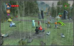 Victor Krum: Beside you will find a rocket, on which you can use only (DM) - Bonuses - Hogwarts - Walkthrough - LEGO Harry Potter: Years 1-4 - Game Guide and Walkthrough