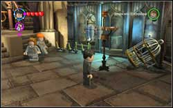 Nearly Headless Nick: Use magic on the hanger on the right side of the room - Bonuses - Hogwarts - Walkthrough - LEGO Harry Potter: Years 1-4 - Game Guide and Walkthrough