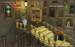 At the very top of the staircase, tangled in the spider-web - use normal magic on her - Bonuses - Hogwarts - Walkthrough - LEGO Harry Potter: Years 1-4 - Game Guide and Walkthrough